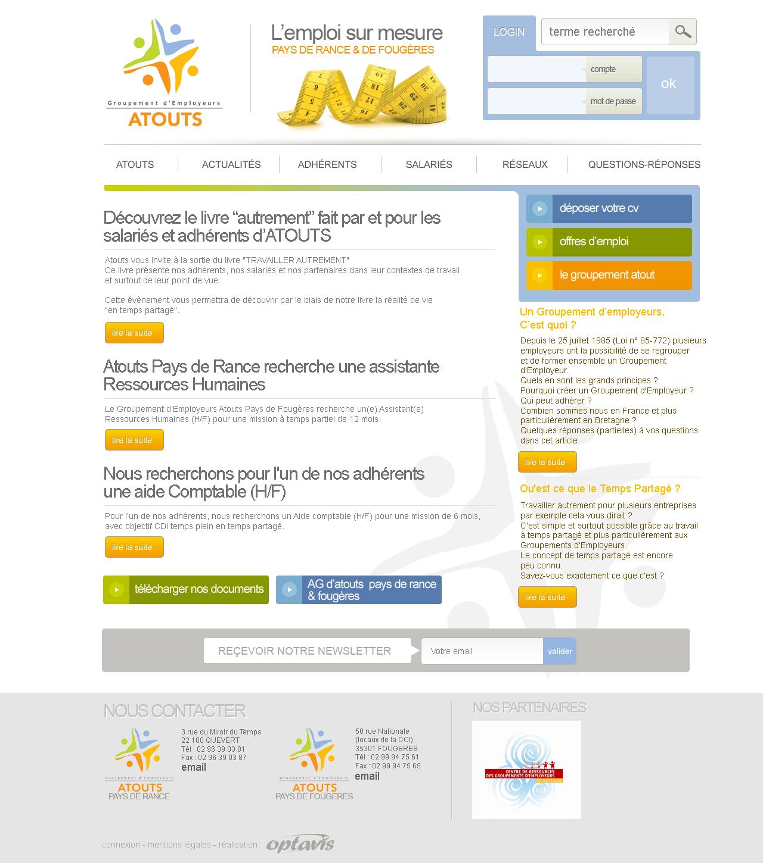 Webdesign pour Atouts pays de rance