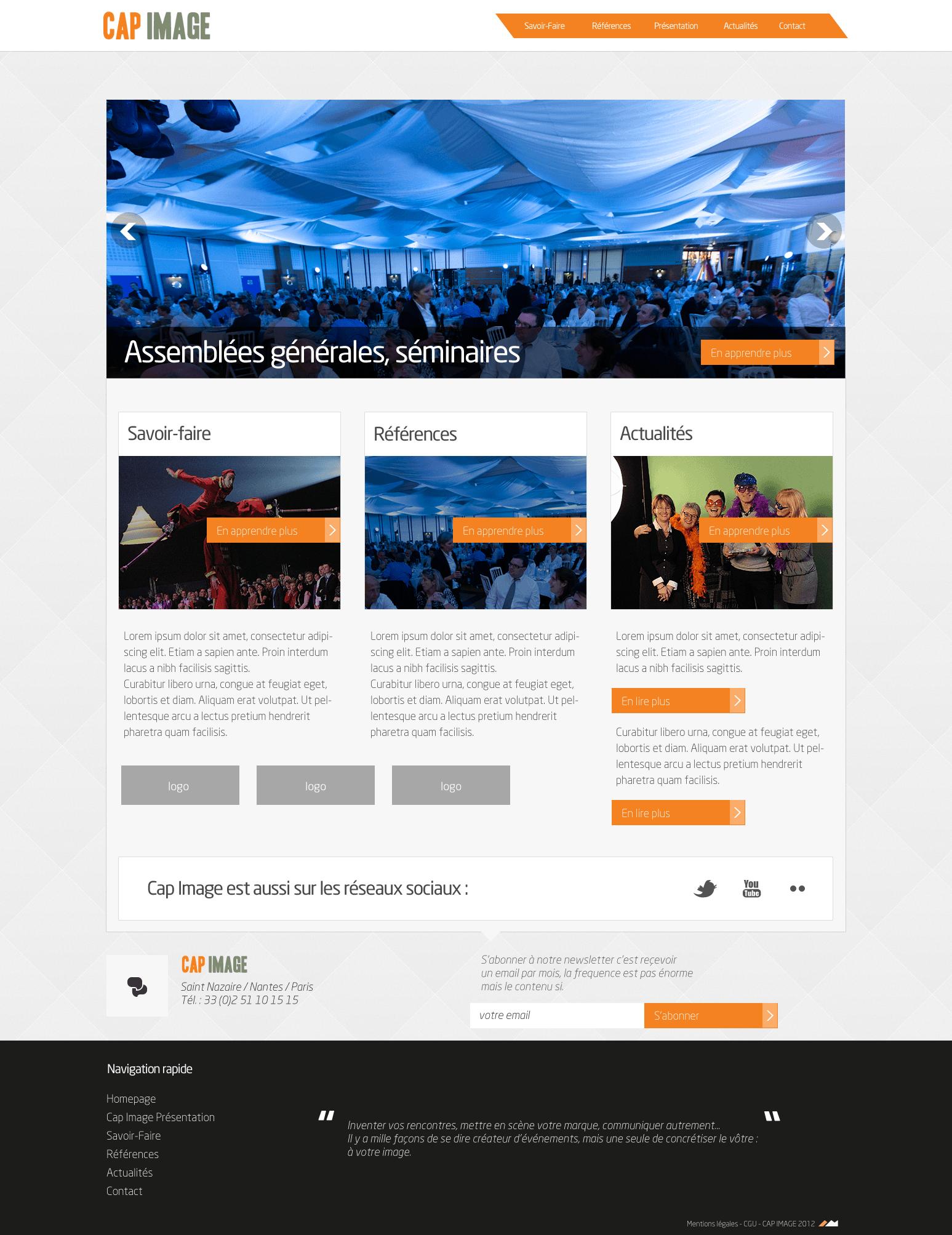 Webdesign pour Cap Image