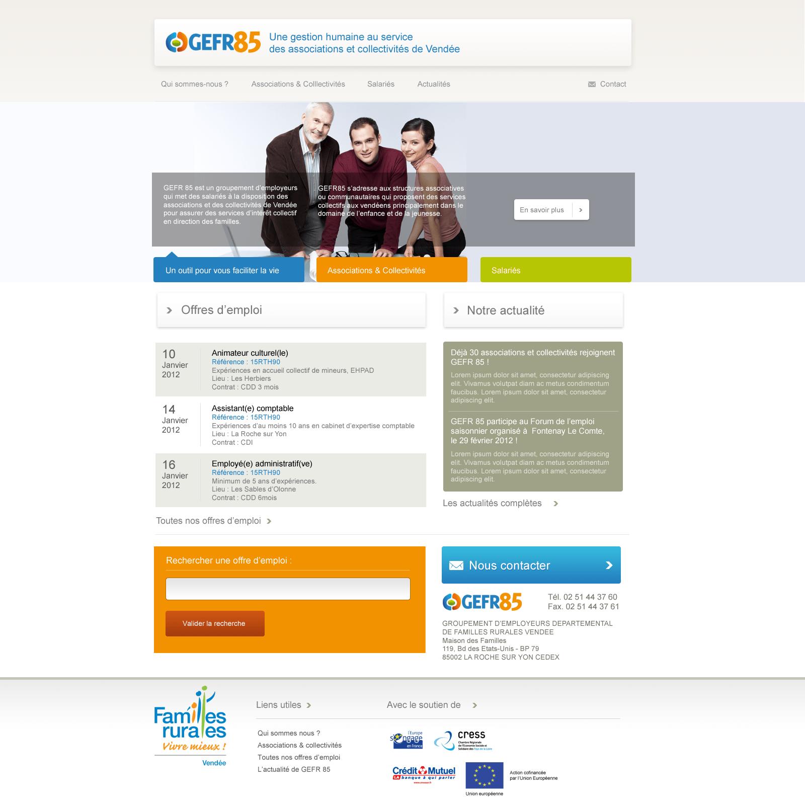 Webdesign pour Gefr85