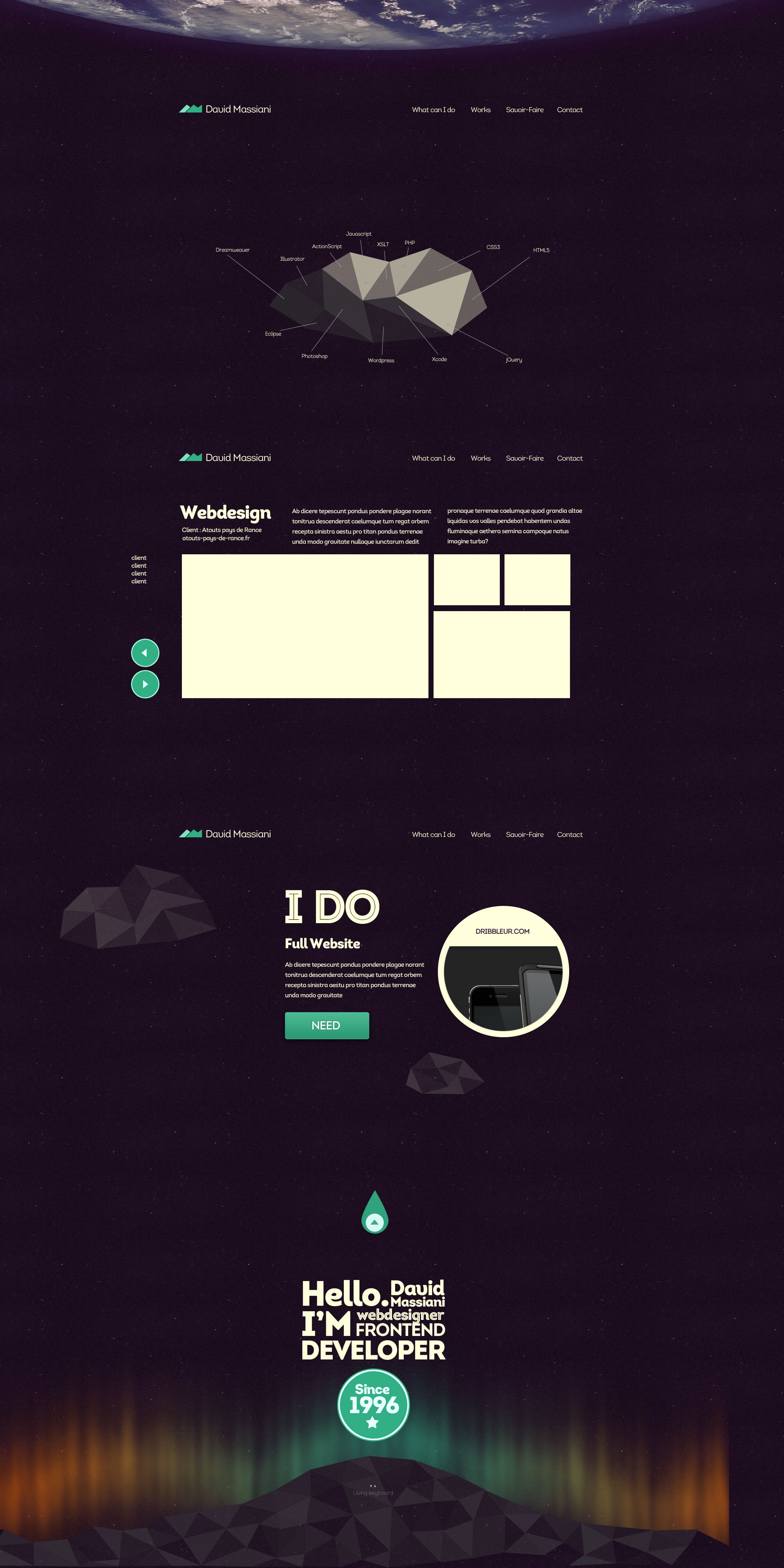 Webdesign pour Portfolio
