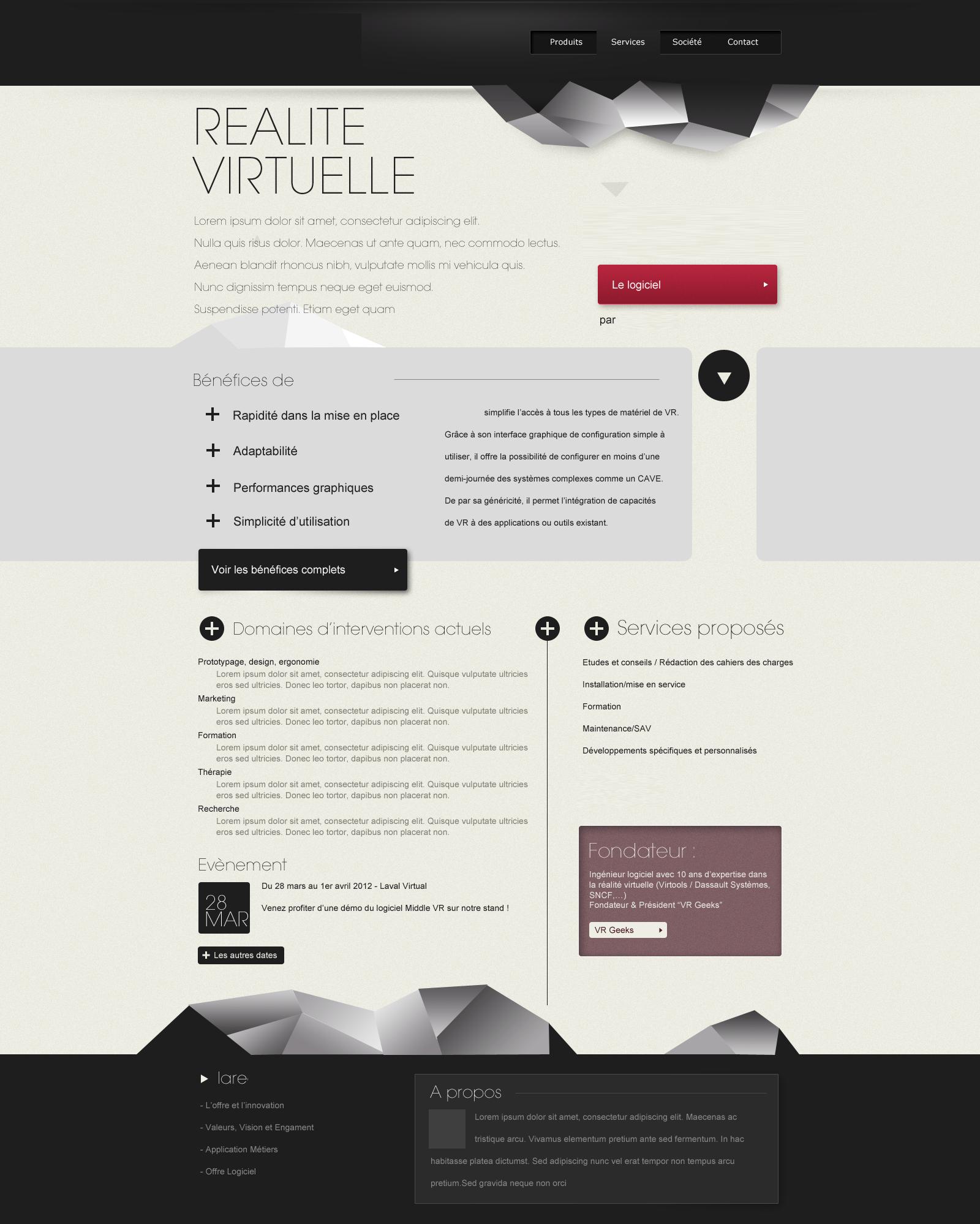 Webdesign pour Virtuel