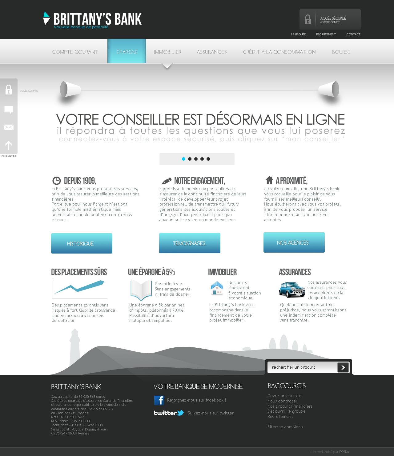 Webdesign pour Banque